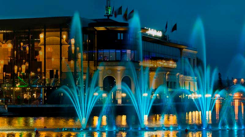 Casino building with fountain